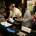 Participants visit exhibits at the USAID/SURGE Conference on Sustainable Land Governance, Manila, February 2017.