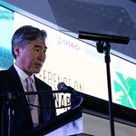 U.S. Ambassador to the Philippines Hon. Sung Kim addresses the USAID/SURGE Conference on Sustainable Land Governance, Manila, February 2017.