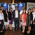 Members of the USAID/SURGE team meet with Ronnel Rivera (right) mayor of General Santos City, at the Conference on Sustainable Land Governance, Manila, February 2017.