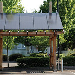 BEAVERTON, OREGON - MAY 25: Solar power station in the parking lot across from the library used to charge three nearby electric vehicle charging stations on May 25, 2012 in Beaverton, Oregon ...